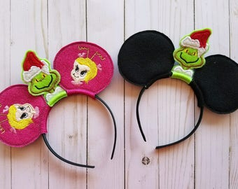 Grinch Inspired Mouse Ears