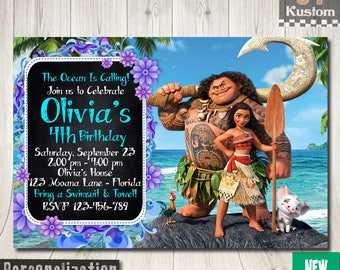 Moana Invitation, Moana Birthday Party, Moana Birthday Invitation, Moana Birthday Party Invitations, Moana Birthday, Moana Party Decorations