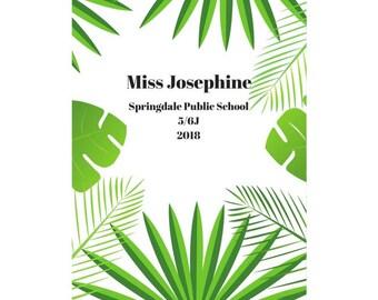 Green Leaves Teacher Planner 2018