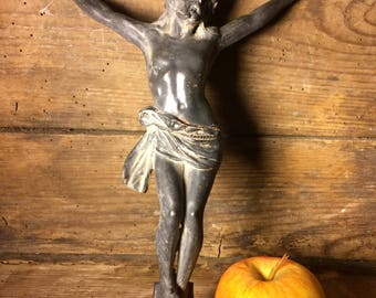 Spelter christ Crucifix crucifix in regulates authentic christ