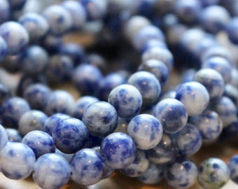 6mm blue Aventurine beads, full strand, natural stone beads, round, 60004