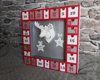 Perpetual wooden advent calendar. The deer.
