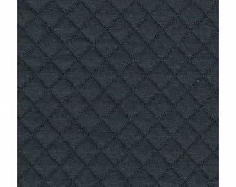 Quilted FRANCE DUVAL-STALLA Black Jersey fabric