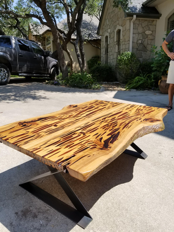 Live Edge Pecky Cypress Coffee Table