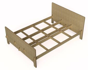 the flat pack minimalist bed frame modern bedroom easy to assemble modern farmhouse - Minimalist Bed Frame