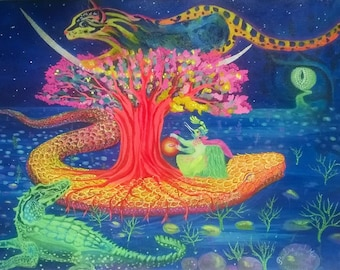 the tree of life. Original painting
