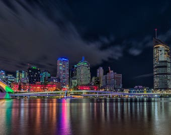 Brisbane at Night Print