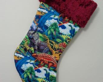 Dinosaur Christmas Stocking