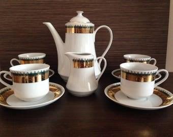 Vintage Czechoslovakia - czecho-slovakia porcelain - Czecho-Slovakia tea Set  6  pc - Czechoslovakia - tea Set Porcelain Czechoslovakia