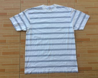 A bathing ape striped tshirts rare