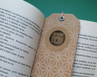 Set of 3 bookmarks tag kraft and white
