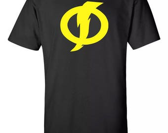 Static Shock Symbol Super Hero Tee Sz:S-2XL