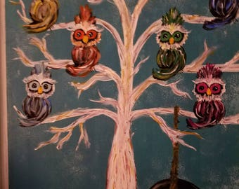 Personalized Owl Family Tree