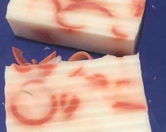 Pink swirl soap
