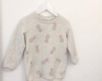 Pineapple glitter Sweatshirt