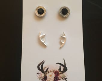 Bullet Casing & Deer Antler Double Pack
