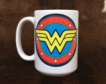 Wonder Woman mug, Gift for co-worker, Holiday gift, Teacher gift, super hero