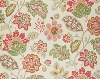 Braemore KAZOO Color OPAL Green Floral Home Decor Drapery Upholstery Sewing Fabric By the Yard BTY