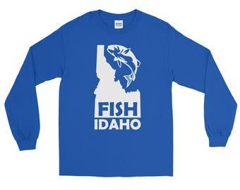 Fish Idaho Fishing T-shirt   Fishing Apparel