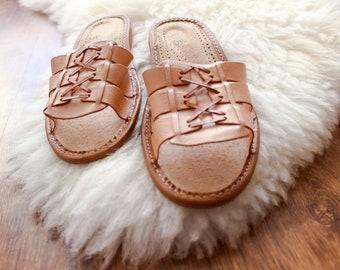 summer slippers leather women slippers open toe slippers leather moccasins real leather leather shoes boots boho bohemian folk ehtnic