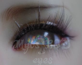 Iridescent silver 14mm bjd eyes