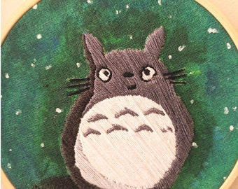 Hand Embroidered Totoro from My Neighbour Totoro Studio Ghibli gift decoration