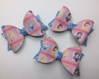 Princess large bow clips