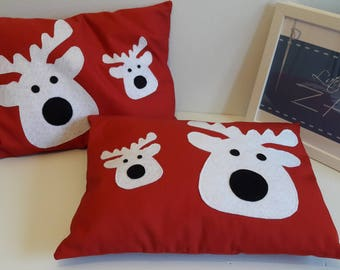 Two pillows of Christmas Reindeer