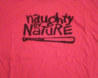Naughty by Nature red cotton t-shirt