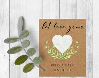 Wedding favours-Funeral favors-Let love grow seed packets-Let love grow-Wedding favors-Seed wedding favors -Seed packet favors-Seed packets