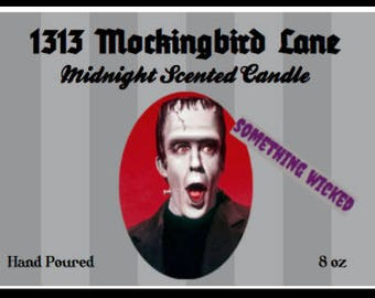 Herman Munster Inspired Candle