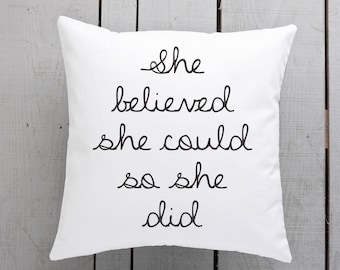 she believed homewares, gift for her, gift for girlfriend, present for wife, gift for teen, present for girl, she believed gifts