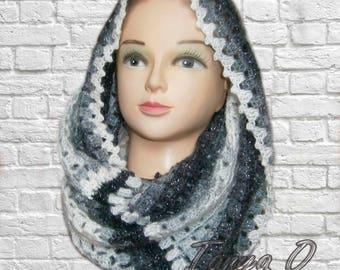 Crocheted Scarf,Scarf crochet,Shawl Hood, Knit hood, Hooded scarf, Crochet cowl, Knit cowl, Gift for Her,Chunky Cowl Scarf, Hooded scarf,