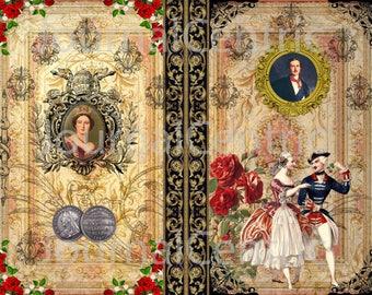 Victorian Love Digital Journal Kit