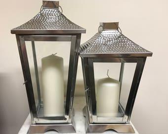 Neil Stainless Steel Lantern, Candle Lantern, Sliver, Wedding