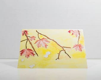Greeting Card - Maple Leaves