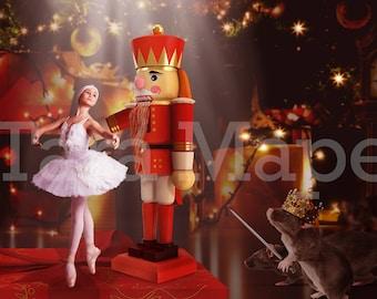 Nutcracker Christmas Digital Background