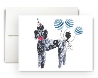 Party Poodle Birthday Card
