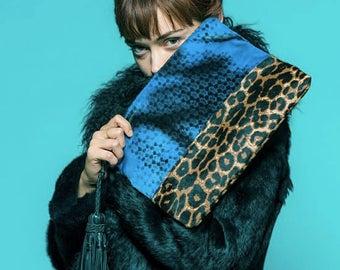 """Simone Camille """"Leopard Blues"""" Clutch"""