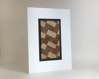 Birthday card, quilt design individually made from hand-painted paper, A6, SKU BRA61006
