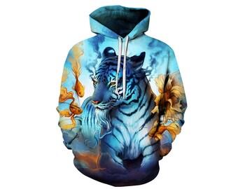 Tiger Hoodie, Tiger, Tiger Hoodies, Animal Prints, Animal Hoodie, Animal Hoodies, Tigers, Hoodie Tiger,Hoodie,3d Hoodie,3d Hoodies Style 6