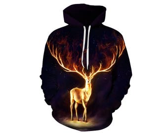 Deer Hoodie, Deer, Deer Hoodies, Animal Prints, Animal Hoodie, Animal Hoodies, Deers, Hoodie Deer, Hoodie, 3d Hoodie, 3d Hoodies - Style 1