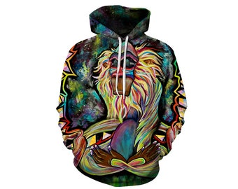 Monkey Hoodie, Monkey, Monkey Hoodies, Animal Prints, Animal Hoodie, Animal Hoodies, Monkeys, Hoodie, 3d Hoodie, 3d Hoodies - Style 1