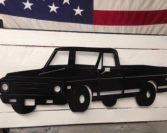 72 Chevy C10 Truck Custom Plasma Cut Metal Wall Hang