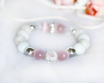 Energy Bracelets For Woman Mental Health Bracelet Agate Bracelet  Cat's Eye Gemstone Gift For Her