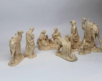 nativity figurine set
