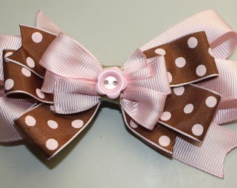 Pink Handmade Hair Bow