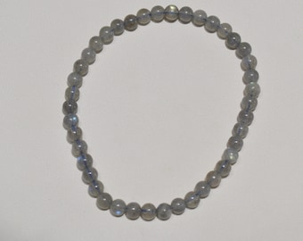 Jewelry - Bead 4 mm - Natural labradorite bead bracelet Labradorite Bracelet