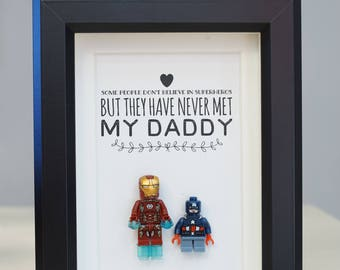 Iron Man, Lego, Superhero, gift, daddy, gift for him, lego minifigures, for valentine, father's day, anniversary, birthday inspired by LEGO
