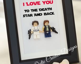 Star Wars, Lego, Lego minifigures Princess Leia Han for daddy husband birthday anniversary gift inspired by LEGO
